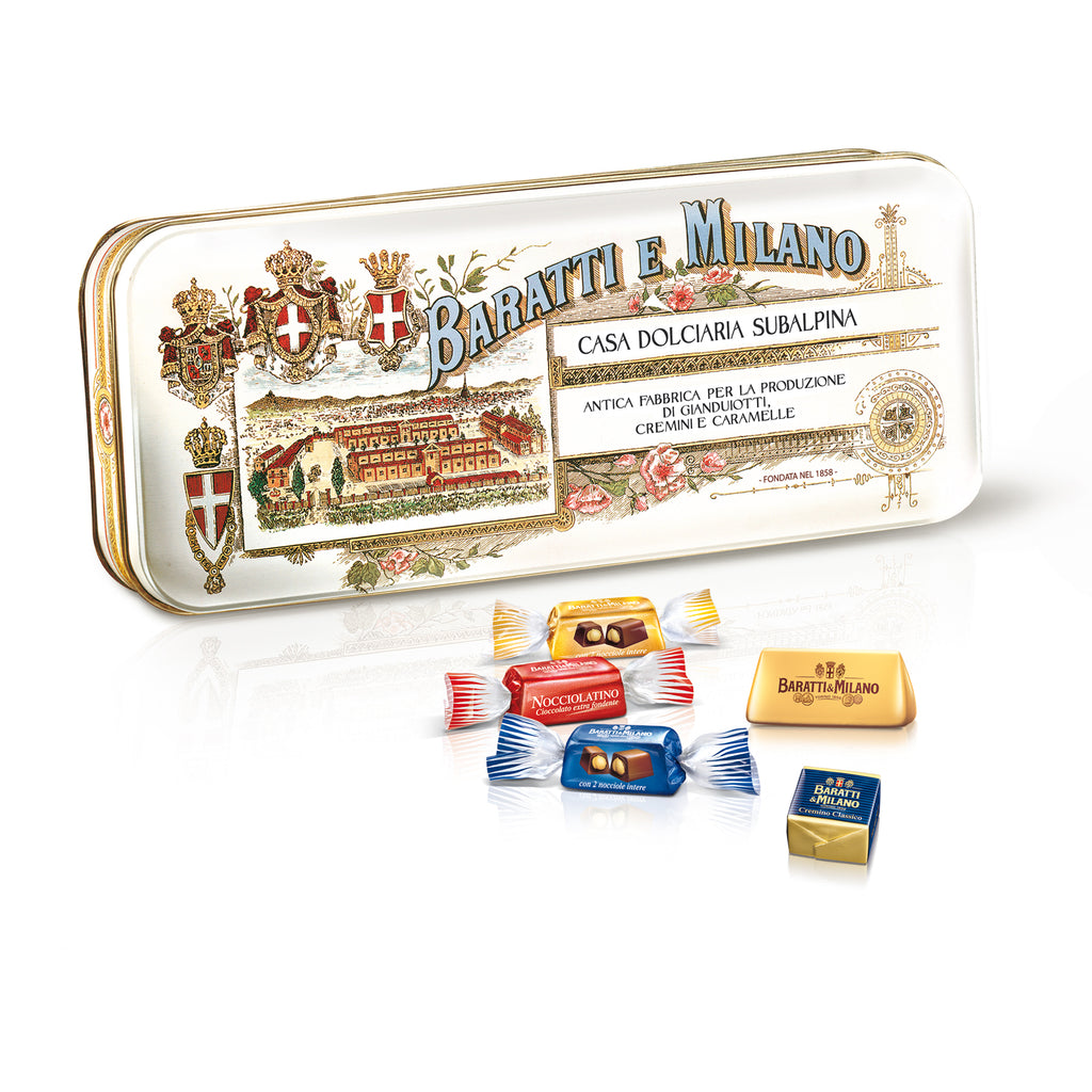 Subalpina Historical Tin with Assorted Chocolates (Case 4pc)