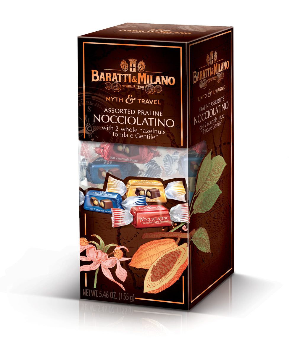 Myth and Travel Nocciolatino Assorted Praline whole Hazelnut Chocolates