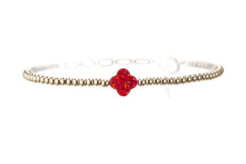GOOD LUCK CLOVER BRACELET - MEDIUM PENDENT