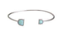 BANGLE U SHAPE OPAL