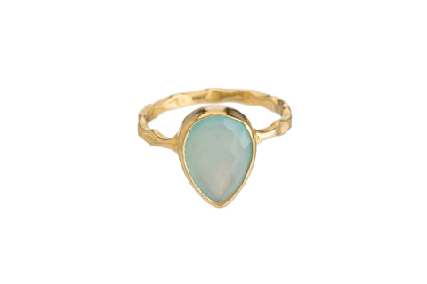 BLUE CHALCEDONY RING (3 SHAPES)