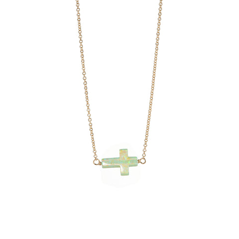 CROSS CHOKER - LARGE PENDANT