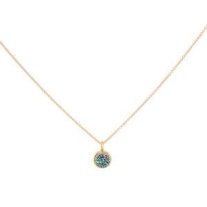 Druzy ROUND NECKLACE - Tiny PENDANT
