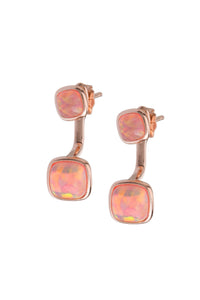 OPAL DOUBLE CABICHON EARRINGS