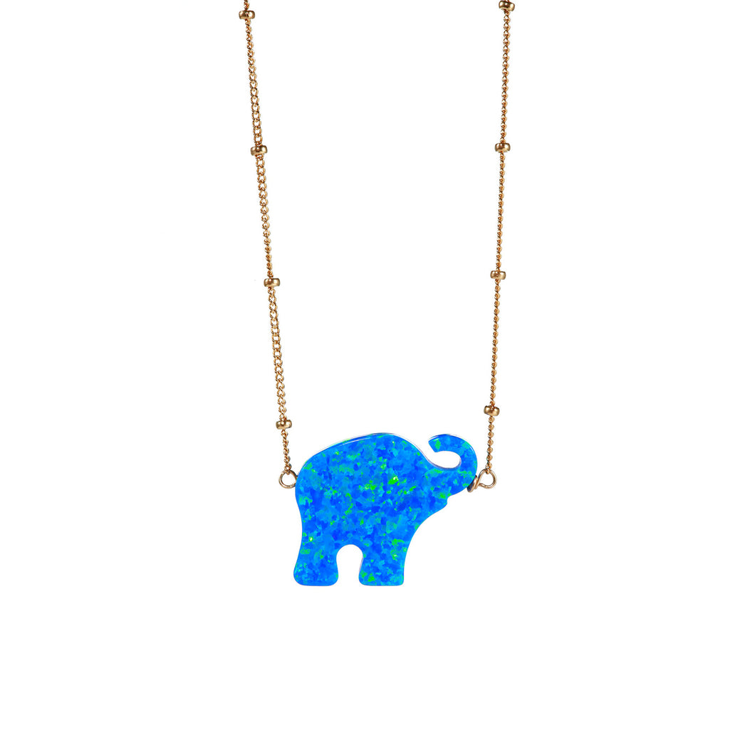 GOOD LUCK ELEPHANT NECKLACE - LARGE PENDANT