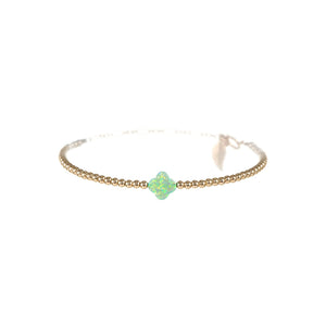 GOOD LUCK CLOVER BRACELET- SMALL PENDENT