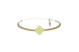 GOOD LUCK CLOVER BRACELET - LARGE PENDENT