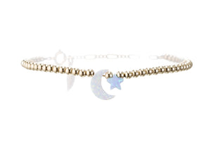 MOON (white) + STAR ANKLET