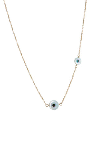 DOUBLE EVIL EYE NECKLACE