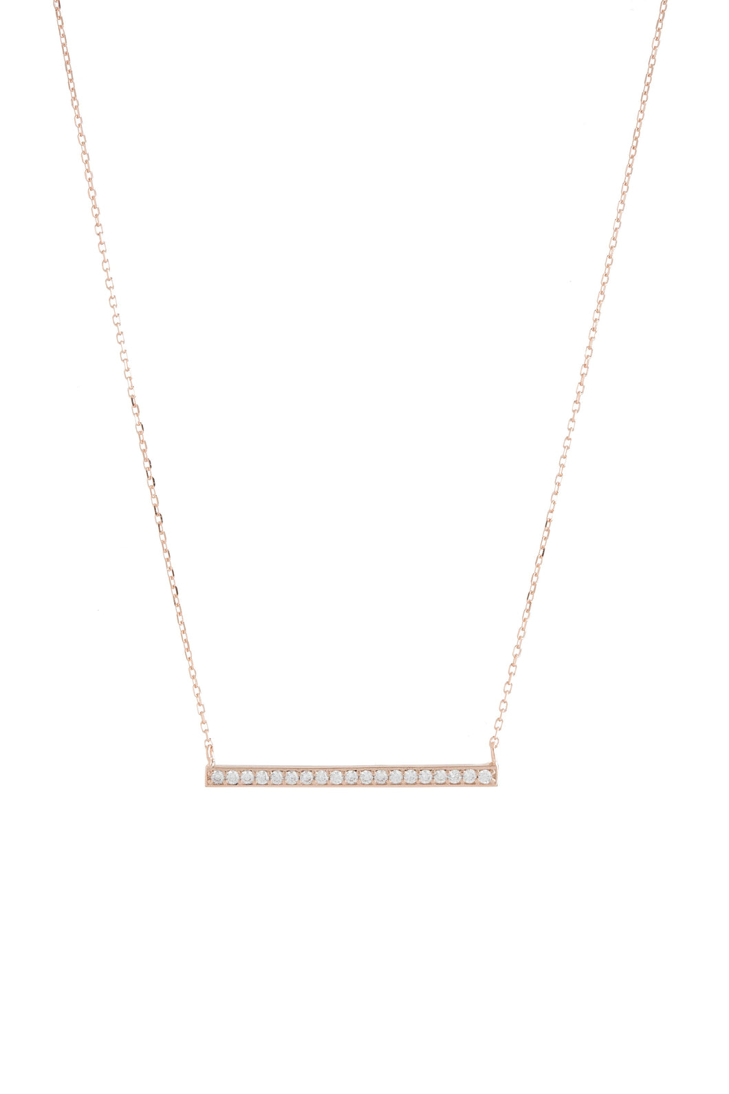 BAR LARGE CZ NECKLACE