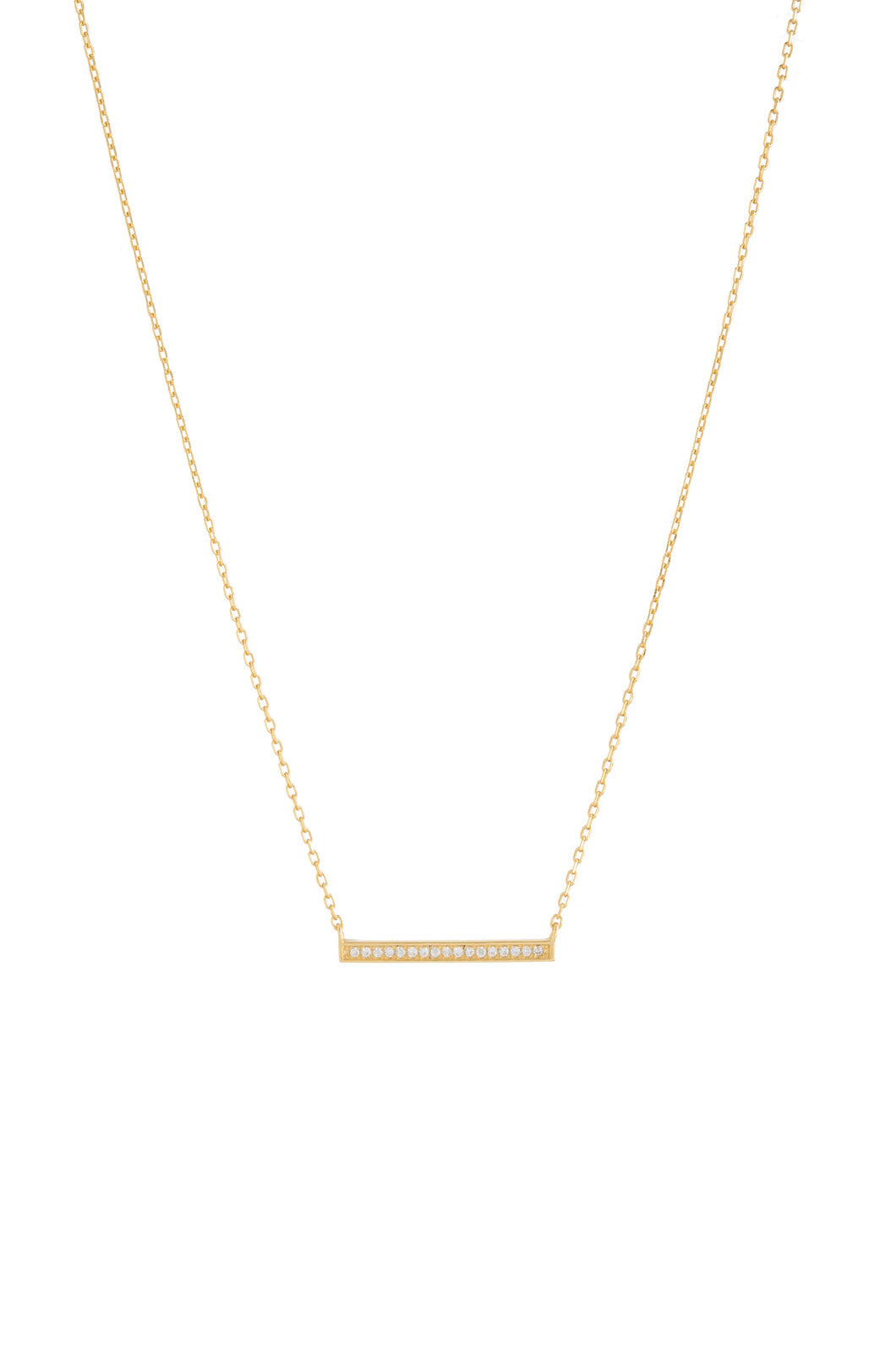 BAR SMALL CZ NECKLACE