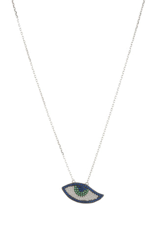 EVIL EYE CZ PEACOCK NECKLACE