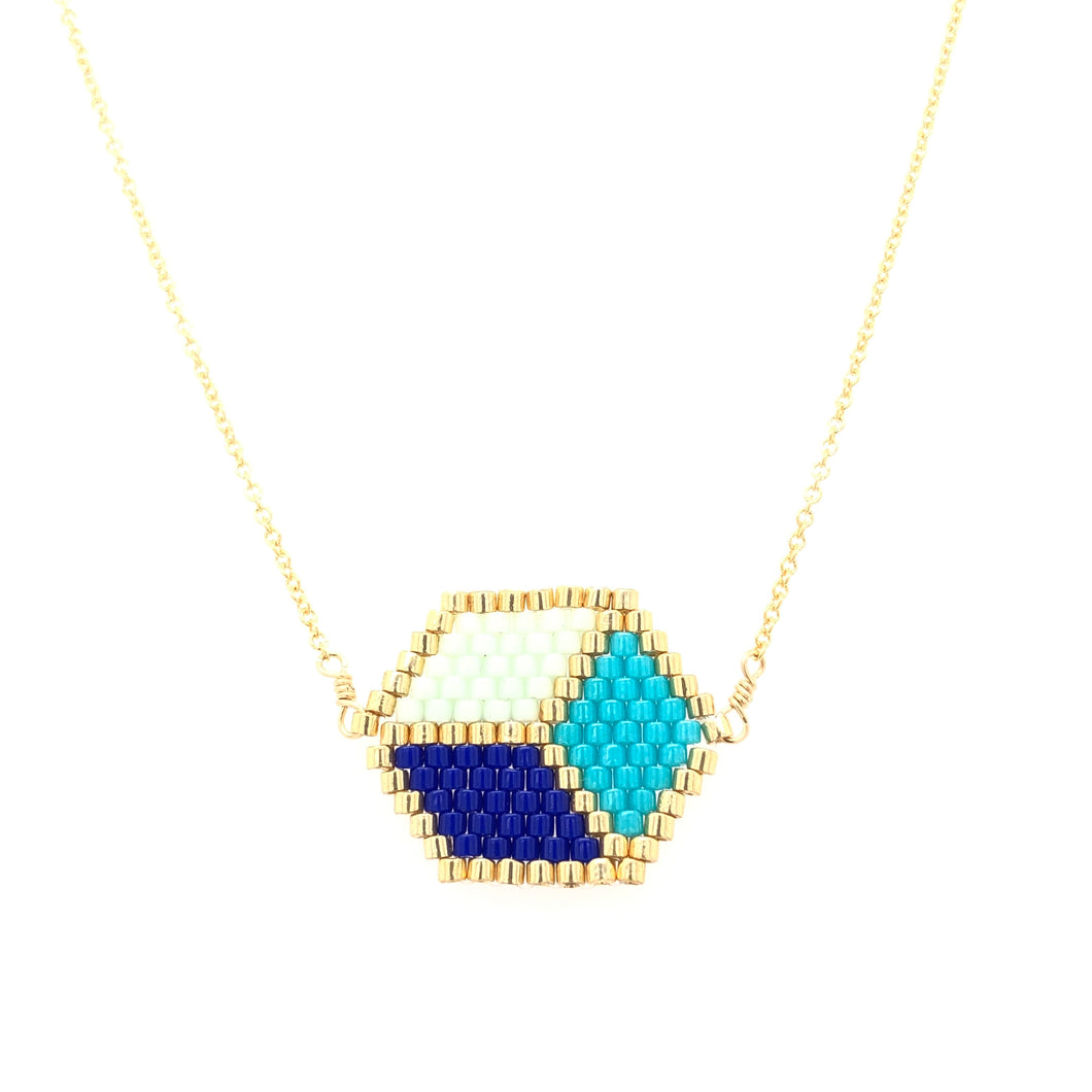 Seed Bead Cubista Necklace