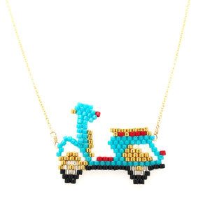 Seed Bead Vespa Necklace