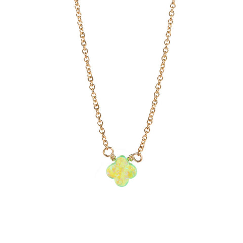 GOOD LUCK CLOVER NECKLACE - SMALL