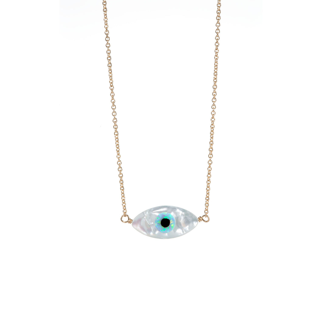 EVIL EYE OVAL SHAPE NECKLACE