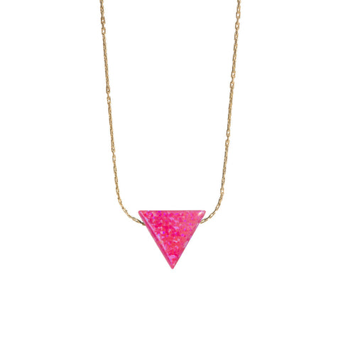 TRIANGLE NECKLACE - LARGE PENDANT