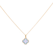 CLOVER CZ PAVE NECKLACE - MEDIUM PENDANT