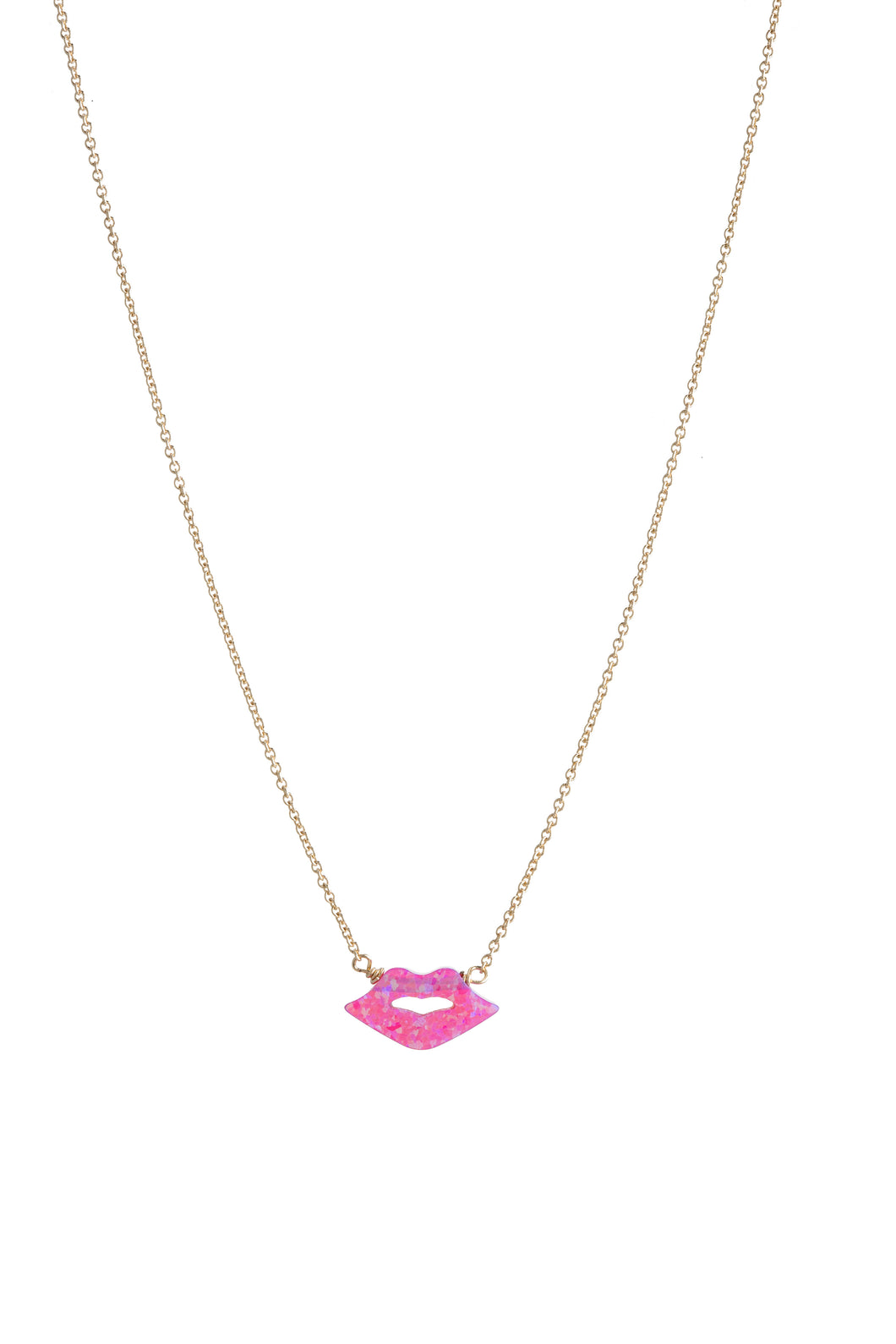 KISS/LIPS NECKLACE