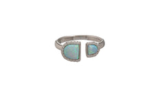 OPAL DOUBLE U SHAPE RING