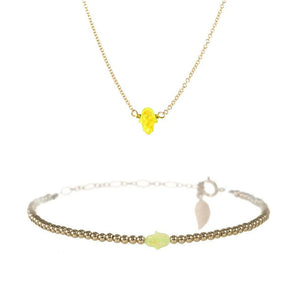 SMALL GOOD LUCK HAND NECKLACE & BRACELET SET