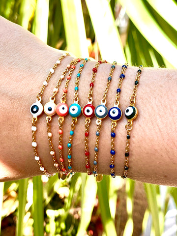 Evil Eye Dotted Bracelet