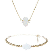 Large Good Luck Hand Necklace & Bracelet Set