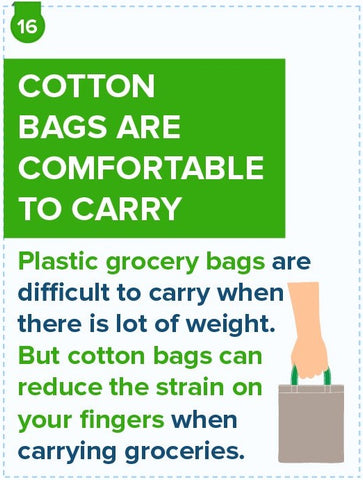 Cotton Bags Are Comfortable To Carry