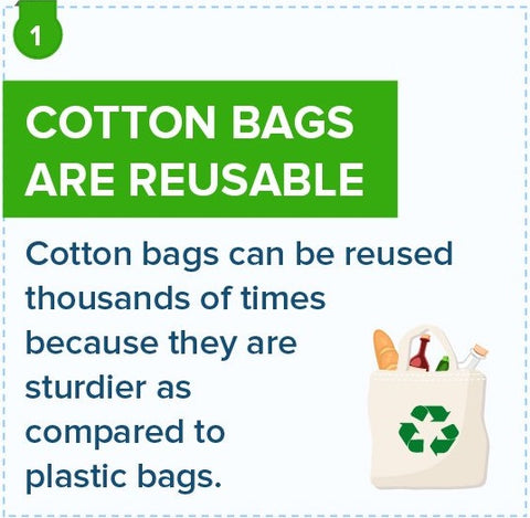 cotton bags are reusable