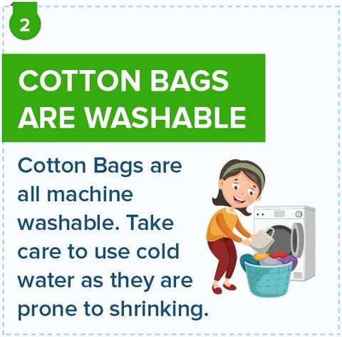 cotton bags are washable