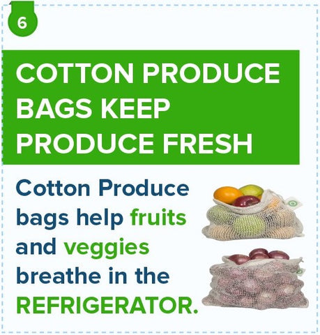 cotton bags keep produce fresh