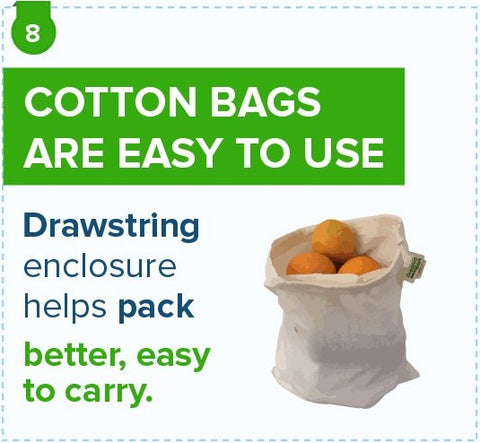 Cotton Bags Are Easy To Use