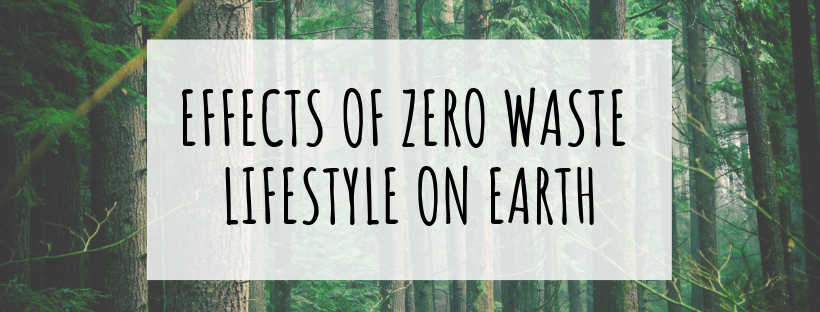 Effects of zero waste lifestyle on Earth