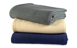 Organic Cotton Basket Weave Throw