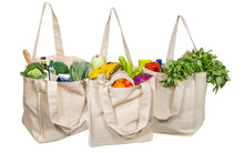 Load image into Gallery viewer, Organic Cotton Grocery Tote Bags