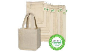 Reusable Farmer's Market Bags Set - 9 Pieces
