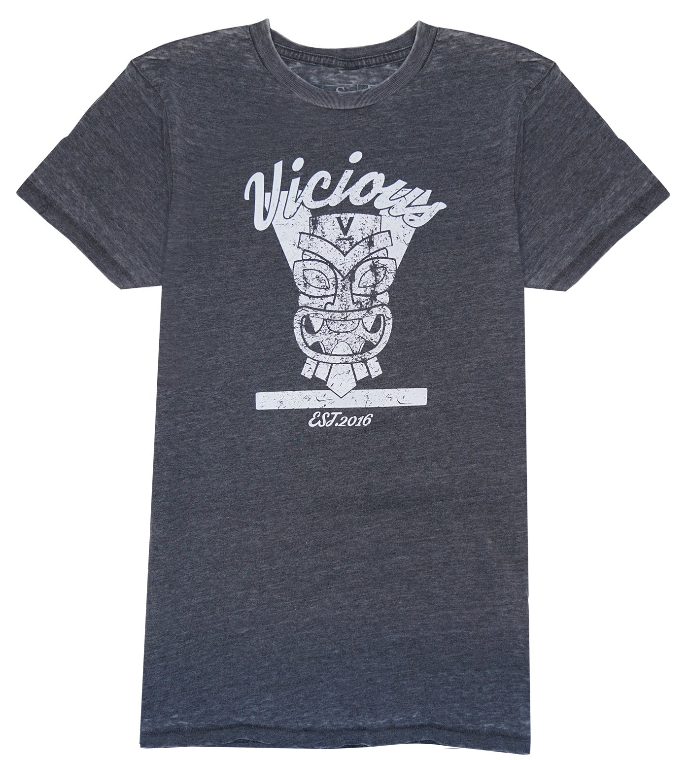 Vicious Tiki Tee - Anthracite (soft grey)