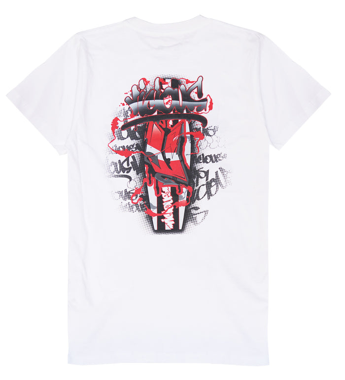 Vicious Graff Tee - White