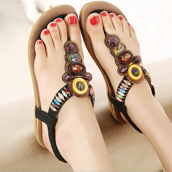 2016 Summer Flat Sandals Ladies Bohemia Beach Flip Flops Shoes Gladiator Women Shoes Sandles platform Zapatos Mujer Sandalias - Baby Gifts Delivered