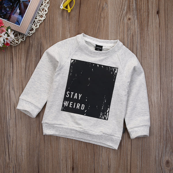2 Colors Baby Boys Spring/Autumn Pullover Tops Babies Boy Long Sleeve Letter T-Shirt Sweatshirt Clothing Toddler Clothes - Baby Gifts Delivered