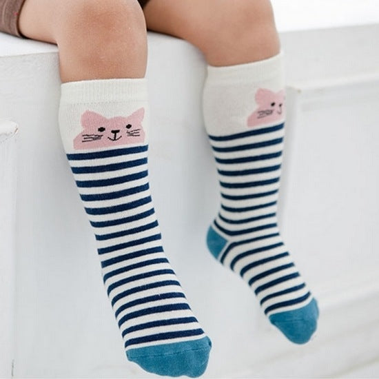 2016 Cartoon Socks Cotton Anti-slip sock Newborn Toddler Knee High Sock Baby Animals Socks Leg Warmers For Newborns - Baby Gifts Delivered