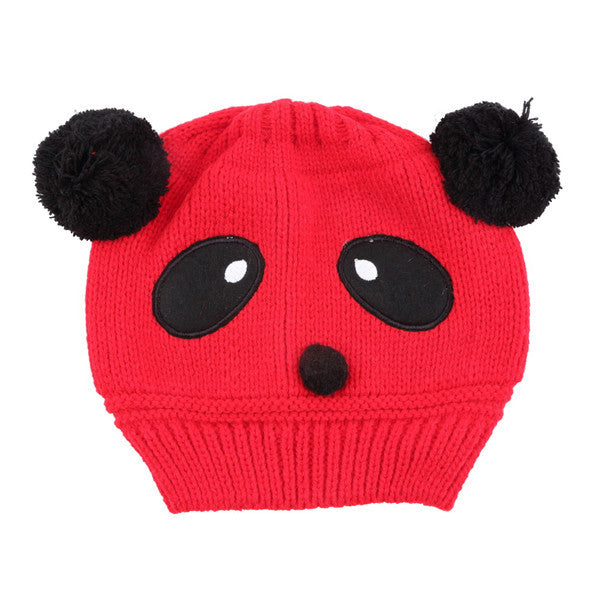 1x Lovely Animal Panda Baby Hats And Caps Kids Boy Girl Crochet Beanie Hats Winter Cap For Children To Keep Warm Hot Sale - Baby Gifts Delivered