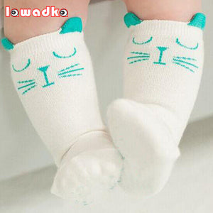 2015 Brand White And Gray Cat Baby Cotton Girls Socks Fashion Meias Infantil Boys Socks - Baby Gifts Delivered