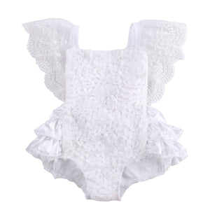 2016 fashion baby bodysuit wholesale kids baby girls sleeveless lace garden cake bodysuit sunsuit Outfits - Baby Gifts Delivered