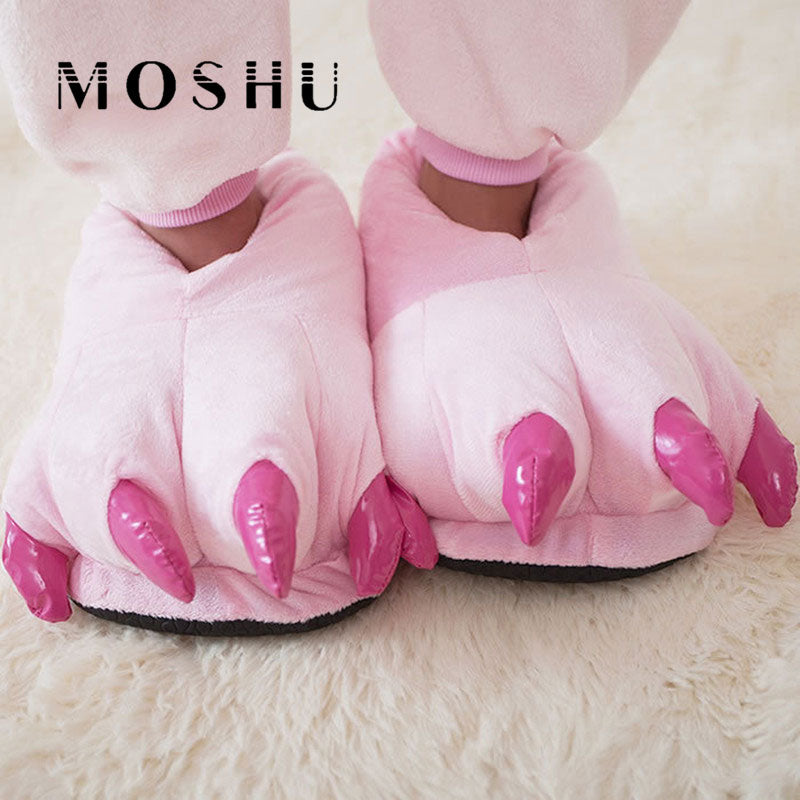 2017 Funny Animal Paw Winter Men & Women Slippers Female Monster Claw Children Slippers Cute Plush Slippers Home Indoor Shoes - Baby Gifts Delivered
