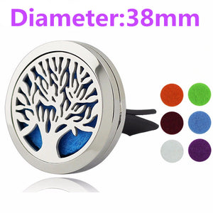 38mm Tree of Life Magnet Diffuser Stainless Steel Car Aroma Locket Free Pads Essential Oil Car Diffuser Lockets With 6 Pads - Baby Gifts Delivered
