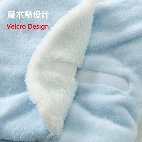 0-1 Year Old Baby Warm Sleeping Bag Flannel Newborn Blanket Swaddle Toddler Sleep Clothes Cute Soft 3d Design For Bed Stroller - Baby Gifts Delivered