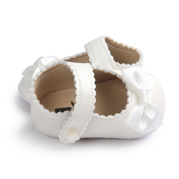 2017 Autumn Infant Baby Boy Soft Sole PU Leather First Walkers Crib Bow Shoes 0-18 Months Baby Moccasins Shoes - Baby Gifts Delivered