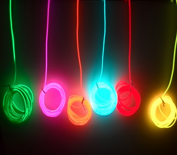 2aa battery 10color Neon Light Glow EL Wire Rope tape Cable Strip 3V LED Neon Lights Shoes Clothing Car decorative ribbon lamp - Baby Gifts Delivered