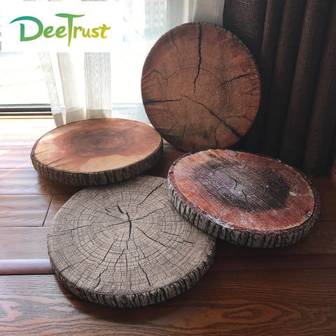 "Creative ""Tree Stump"" Round Seat Cushion - Novelty Throw Pillow - Baby Gifts Delivered"
